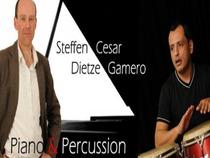 Bild: Konzert mit Steffen Dietze und Cesar Gamero - Pianist und Percussion