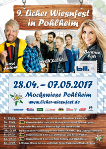 Bild: 9. Licher Wiesnfest in Pohlheim 2017 - Wiesn-Opening mit voXXclub, Antonia aus Tirol & M�nchner Zwietracht
