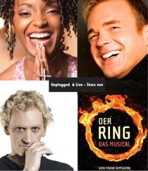 Bild: unplugged und live - Musicals Stars von DER RING - mit Chris Murray, Zodwa Selele und Frank Nimsgern