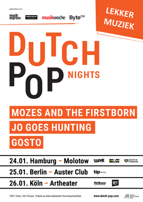 Bild: Dutch Pop Nights - Mozes And The Firstborn, GOSTO, Jo Goes Hunting