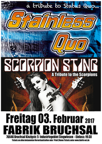 Bild: Stainless Quo und Scorpion Sting - Tribute to Status Quo und Scorpions