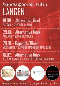 Bild: Bandsupporter Gigs Langen - Alternative Rock: Lady Moustache / Empire Hurricane