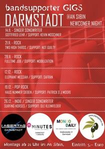 Bild: Bandsupporter Gigs Darmstadt @ An Sibin Newcomer Night - Indie / Singer Songwriter: Surfing Horses / Ole Kleinfelder